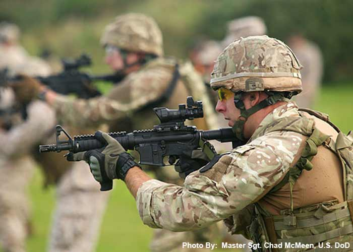Royal Marine 43 Commando With L119