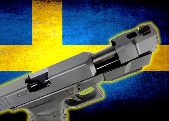 Sweden Flag with G26 GBB Pistol