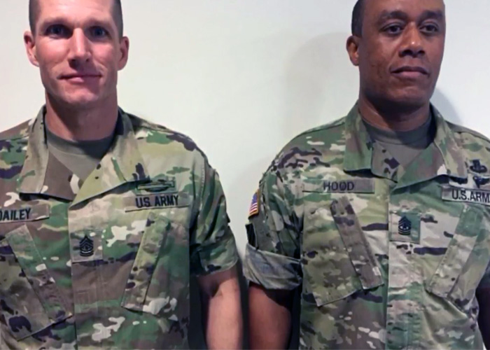 U.S. Army Rolled Up Sleeves