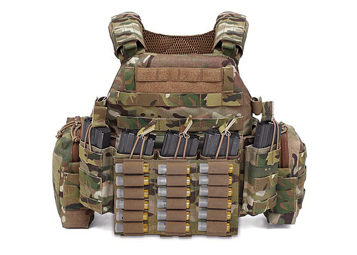 UK Tactical Warrior Triple Vertical Shell Pouch