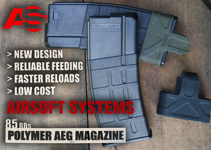 Airsoft Systems 85-Round Polymer AEG Magazine