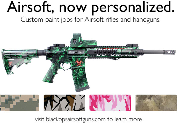 Custom painted airsoft sniper rifles