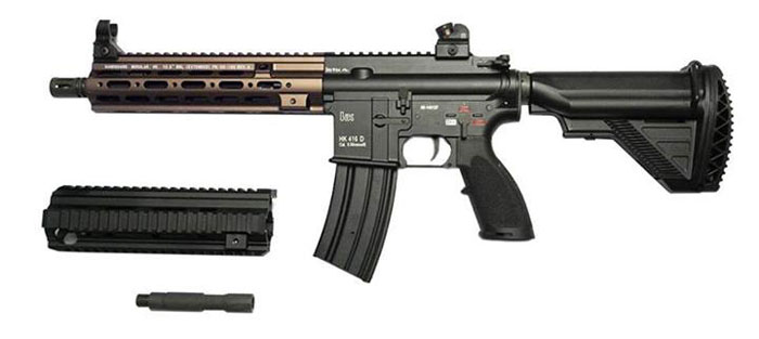 DYTAC G-Style SMR Rails for HK416 In Sand | Popular Airsoft