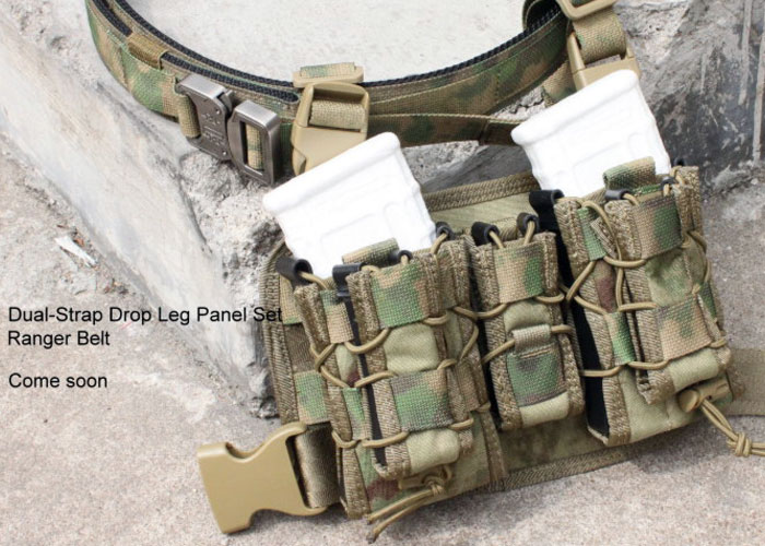 Dual-Strap Drop Leg Panel Set Ranger Belt