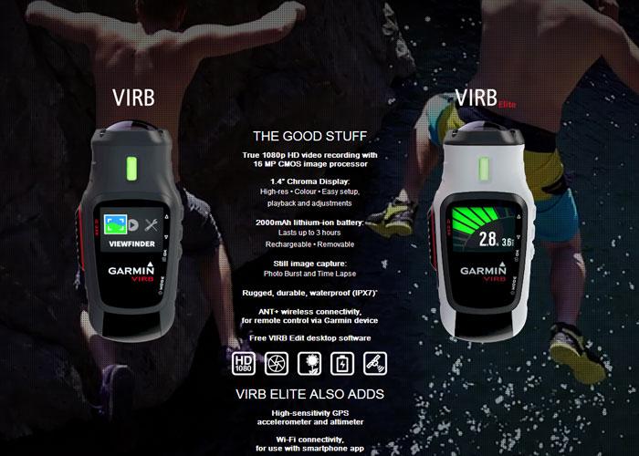 Garmin VIRB HD Camera Elite & Standard