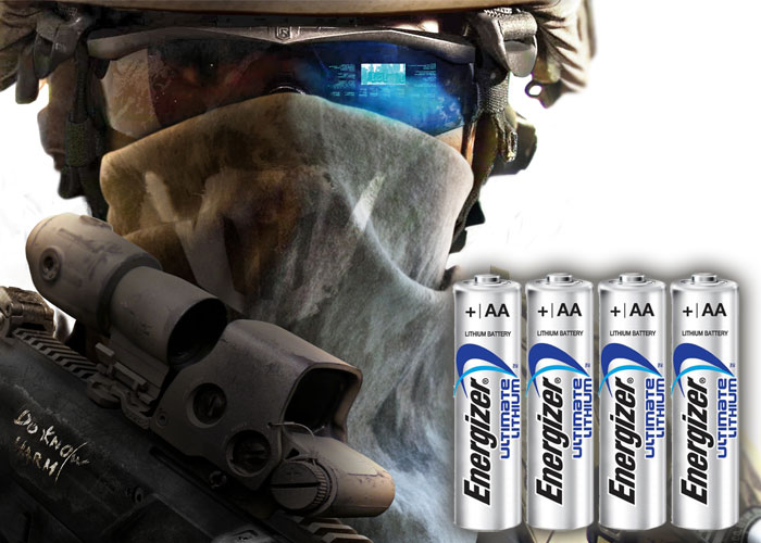 Ghost Recon Future Soldier Energizer  Lithium Batteries