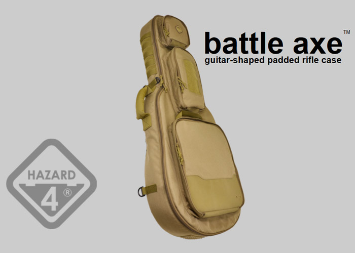 Hazard 4 Battle Axe Guitar Shaped Rifle Case