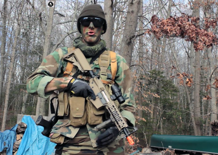 Airsoft Woodland Camo Loadout Jolly Roger Airsoft