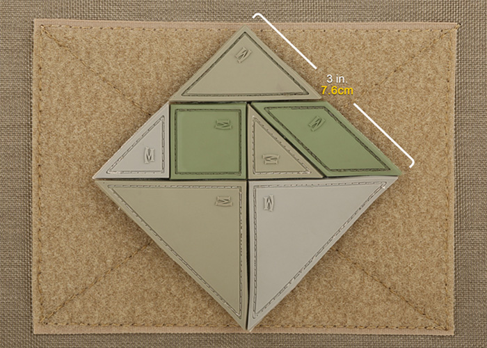 Maxpedition Tangram 7-Piece Morale Patch