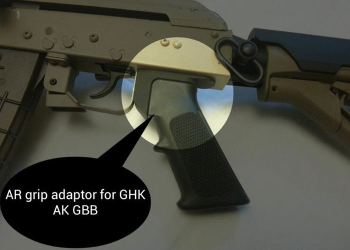 Public Enemy Angry Gun AR Grip GHK AK Adaptor