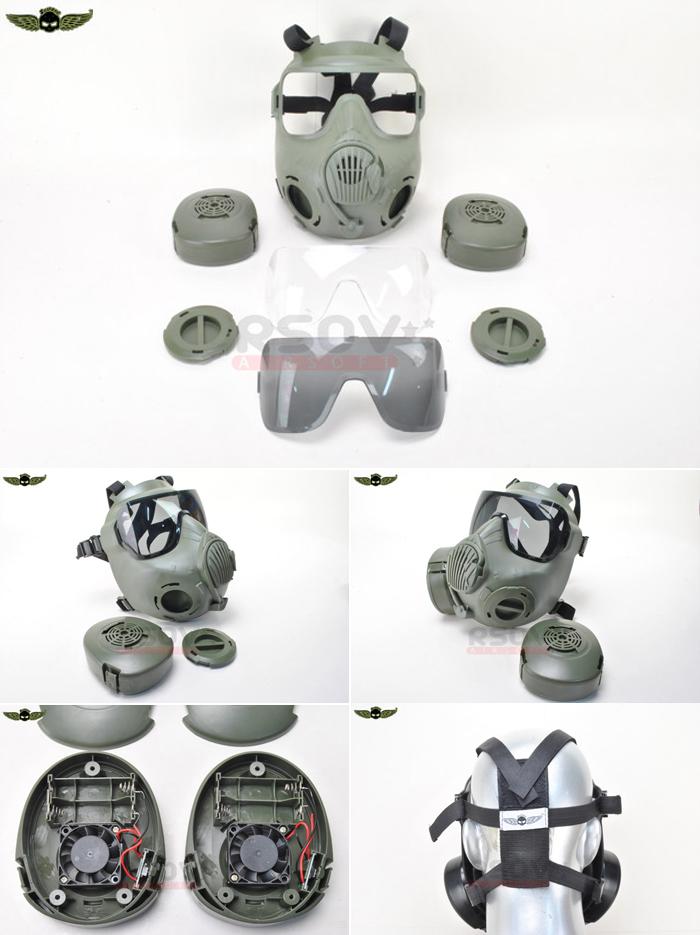M50-Style Dual Fan Full Face Mask At RSOV.com | Popular