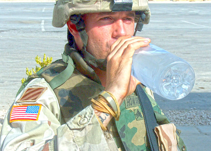 Soldier Drinking Water (DOD Photo)