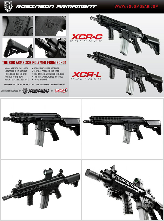 echo1 polymer xcrs available in asia popular airsoft. Black Bedroom Furniture Sets. Home Design Ideas