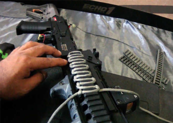 how to make a paracord rail cover popular airsoft. Black Bedroom Furniture Sets. Home Design Ideas