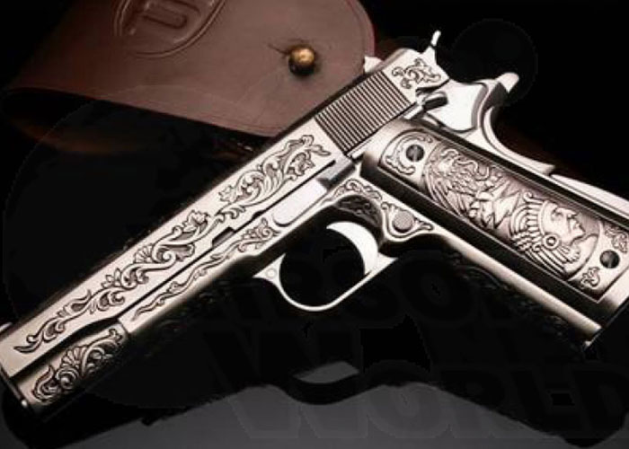 WE 1911 Engraved 'Mehico Druglord' GBB | Popular Airsoft