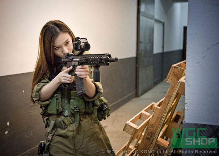 Where Japanese girls with airsoft guns shooting not