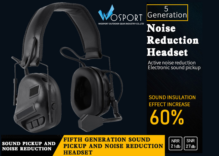 WoSport 5th Generation Sound Pickup & Noise Reduction Headset
