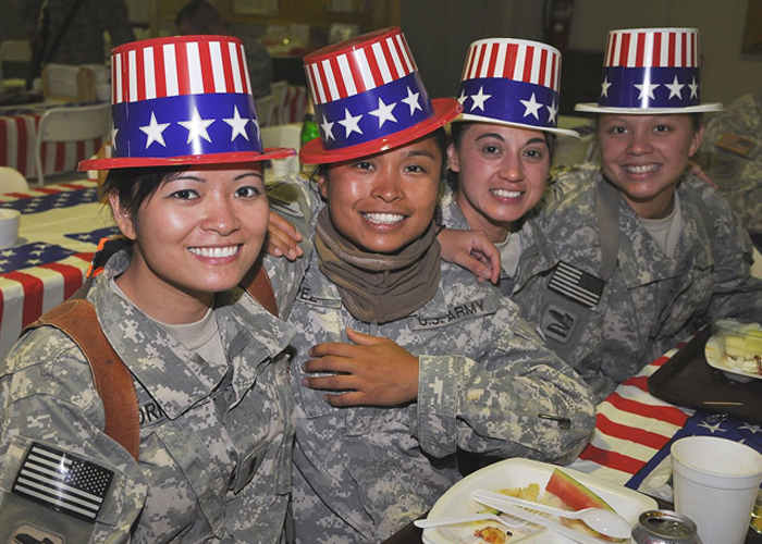 US Army Soldiers 4th of July 2009 in Iraq