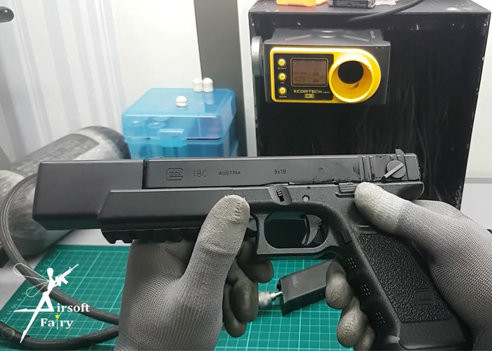 Airsoft Fairy Upgraded Tokyo Marui Glock 18C GBB Pistol
