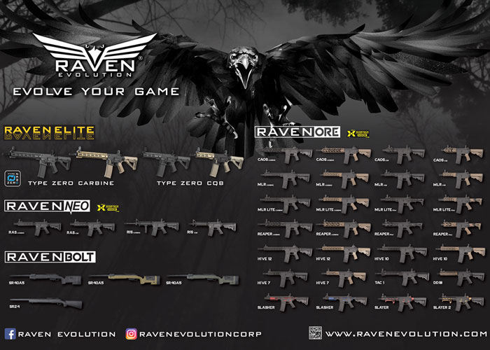 Raven Evolution ELITE, ORE, NEO & BOLT Series