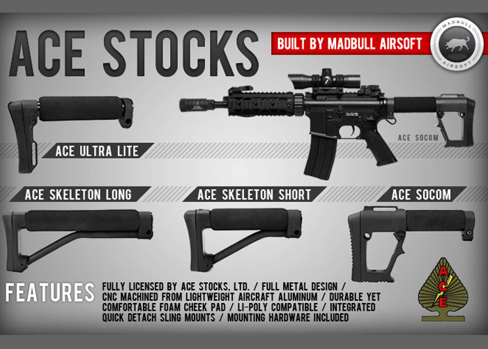 New ACE Stocks from MadBull Airsoft | Popular Airsoft: Welcome To