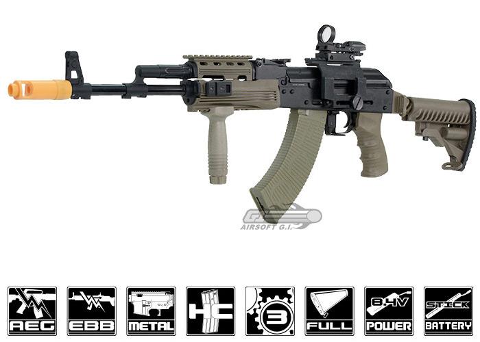 Javelin Gun Works Tactical AK-74 EBB-R | Popular Airsoft