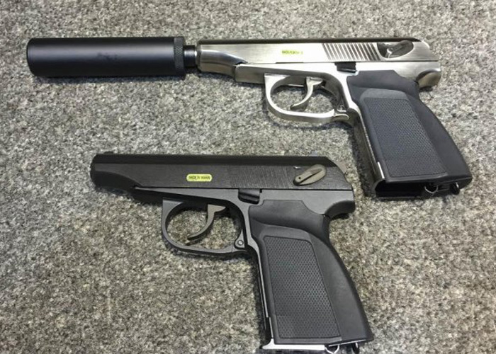 WE Airsoft Makarov GBB with Silencer   Popular Airsoft