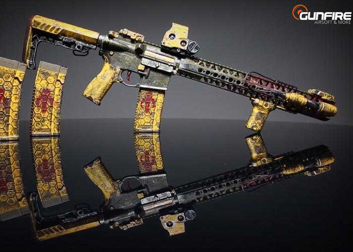 Gunfire: Custom AR15 Mandalorian AEG | Popular Airsoft