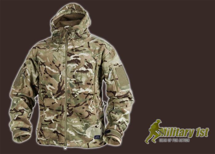 Helikon Patriot Tactical Hooded Jacket Double Warm Polar Hunting Fleece MTP Camo