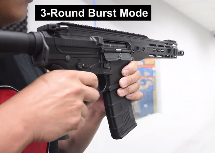 Image result for rifle 3 round burst""
