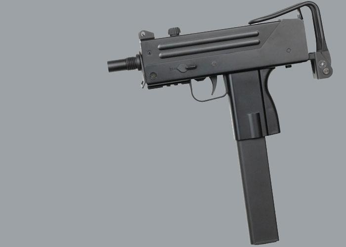 jg ingram mac 10 aeg airsoft smg with silencer