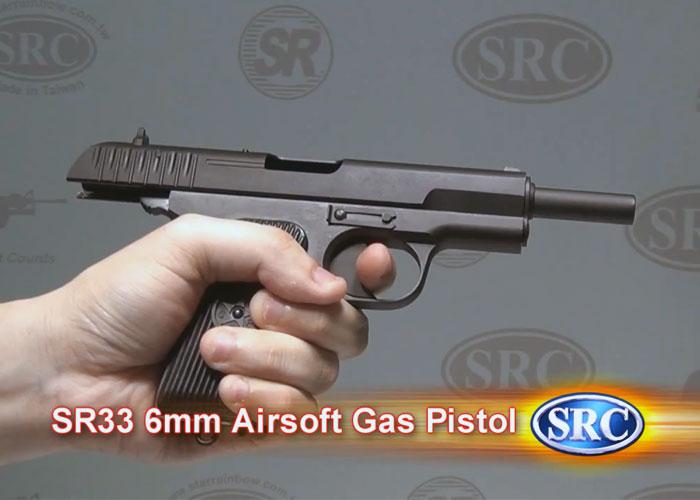 SRC SR-33 Full Metal 6mm Airsoft Pistol Demo   Popular