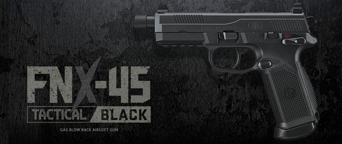 11 APCA Tokyo Marui FNX-45 Tactical Black Gas Blowback Pistol