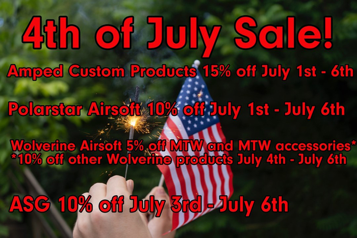 Amped Airsoft 4th of July Sale 2020
