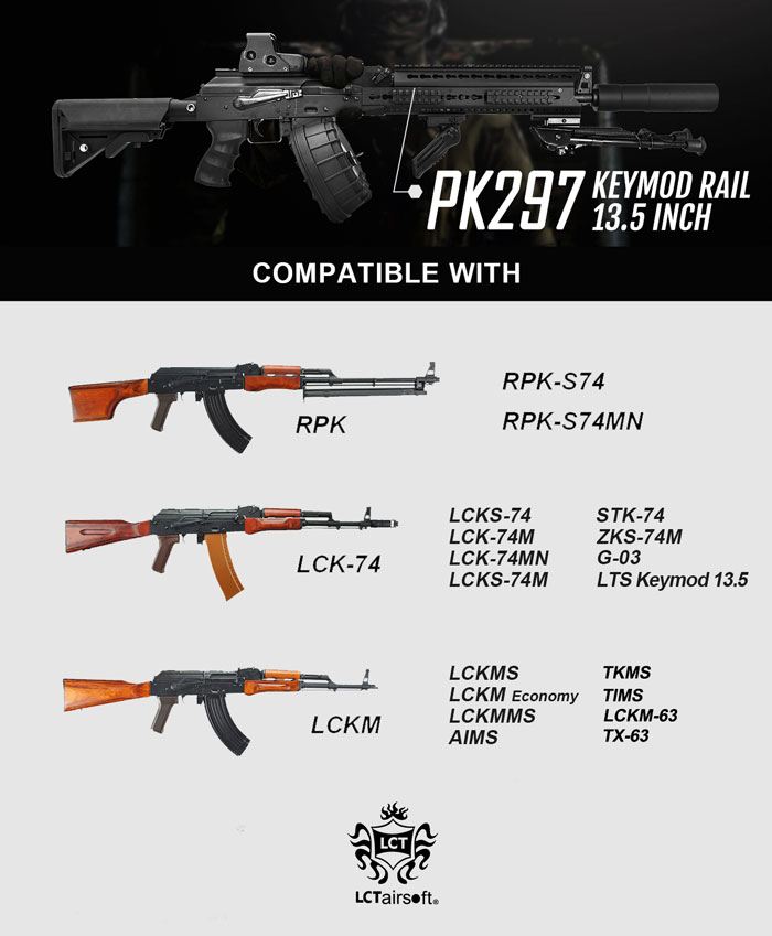 LCT Airsoft KeyMod & Z-Series Handguards 07