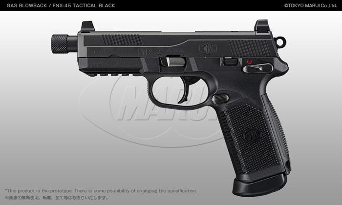 Tokyo Marui FNX-45 Tactical Black GBB Pistol